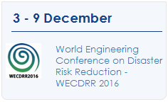 World Engineering Conference on Disaster Risk Reduction - WECDRR 2016