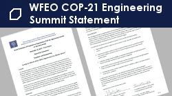 WFEO COP-21 Engineering Summit Statement