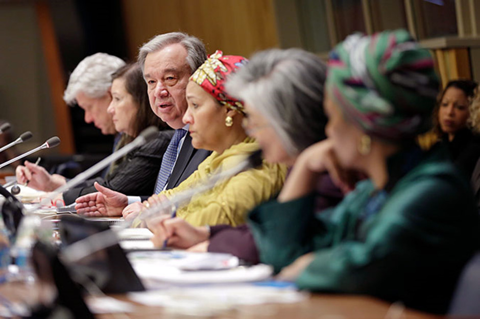 UN Secretary general at a town hall meeting held during the meetings of the Commission on the Status of Women