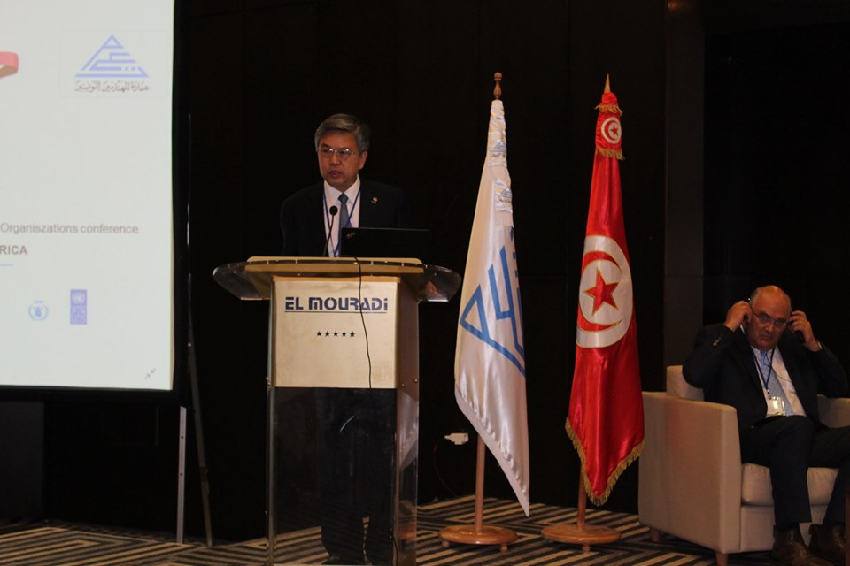 WFEO President Elect Prof. Gong Ke speaking at the EFS Africa Conference