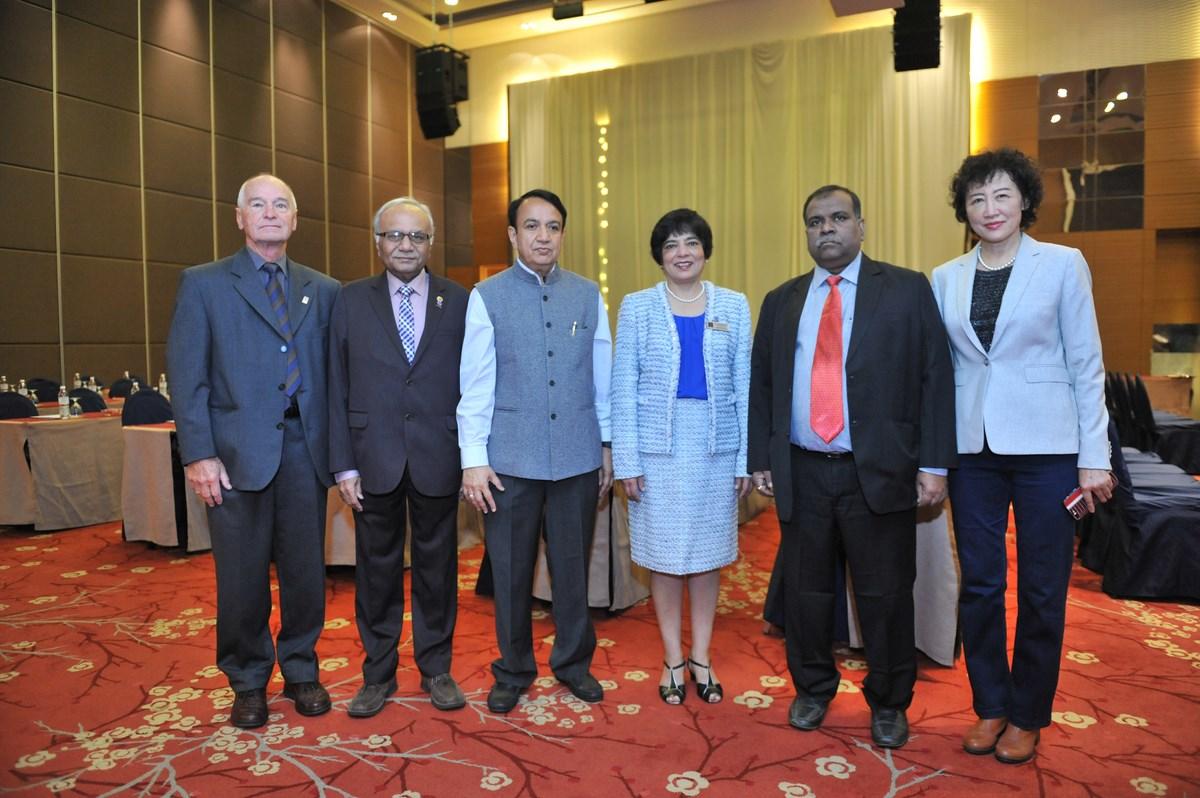 Peter Greenwood, Navin Vasoya, S. S. Rathore, Marlene Kanga, Ashok Basa and Ruomei Li