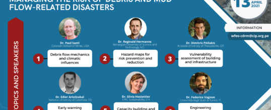 WFEO CDRM Online course: Managing the risk of debris and mud flow-related disasters