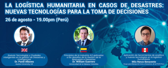 """WFEO CDRM Webinar """"Humanitarian Logistics in Disaster Cases: New Technologies for Decision Making"""""""