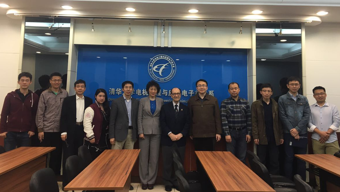 The group photo of WFEO president with young scholars in THU-EIRI, from left: Yi-Feng Zhu, Yang-Lin Zhou, Luo-Ping Zhang, Dr. Xuan Zhang, Prof. Rong Zeng, Prof. Ruomei Li, Prof. Jorge Spitalnik, Prof. Feng Gao, Dr. Chao Yang, Dr. Lu Qu, Qing Cheng and Tian Xia