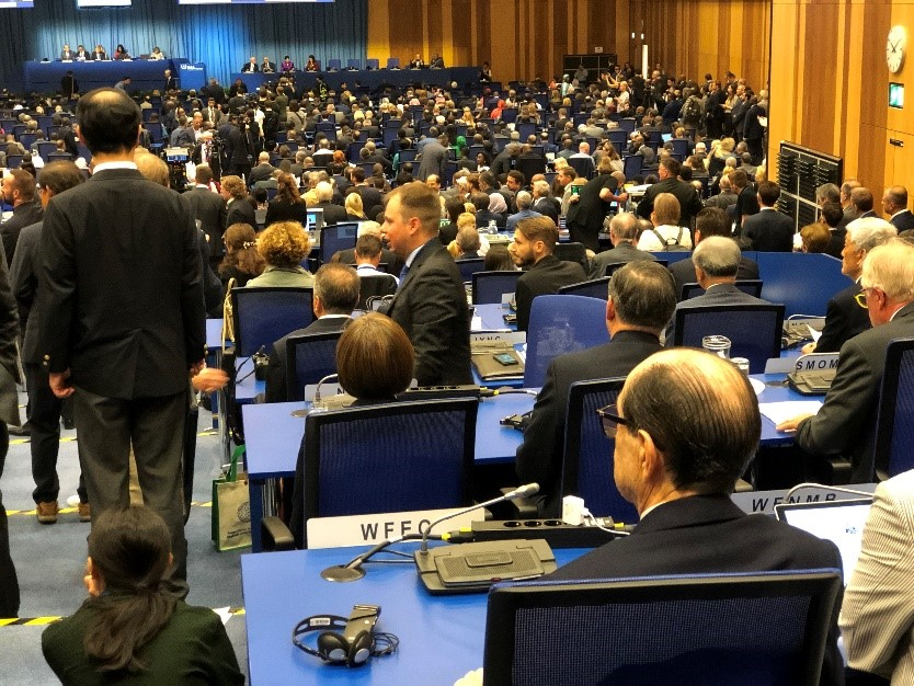 Jorge Spitalnik (right) at the 63rd IAEA General Conference
