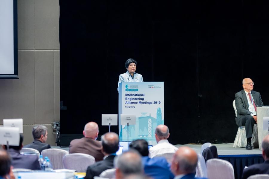 WFEO President Dr Marlene Kanga addresses the IEA Plenary Forum