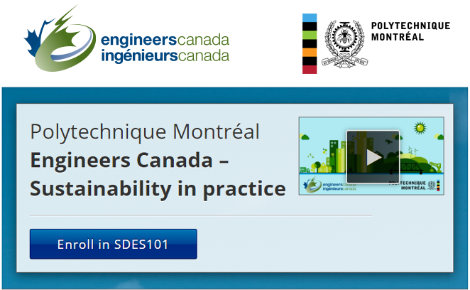 Massive Open On-Line Course - Engineers Canada – Sustainability in practice