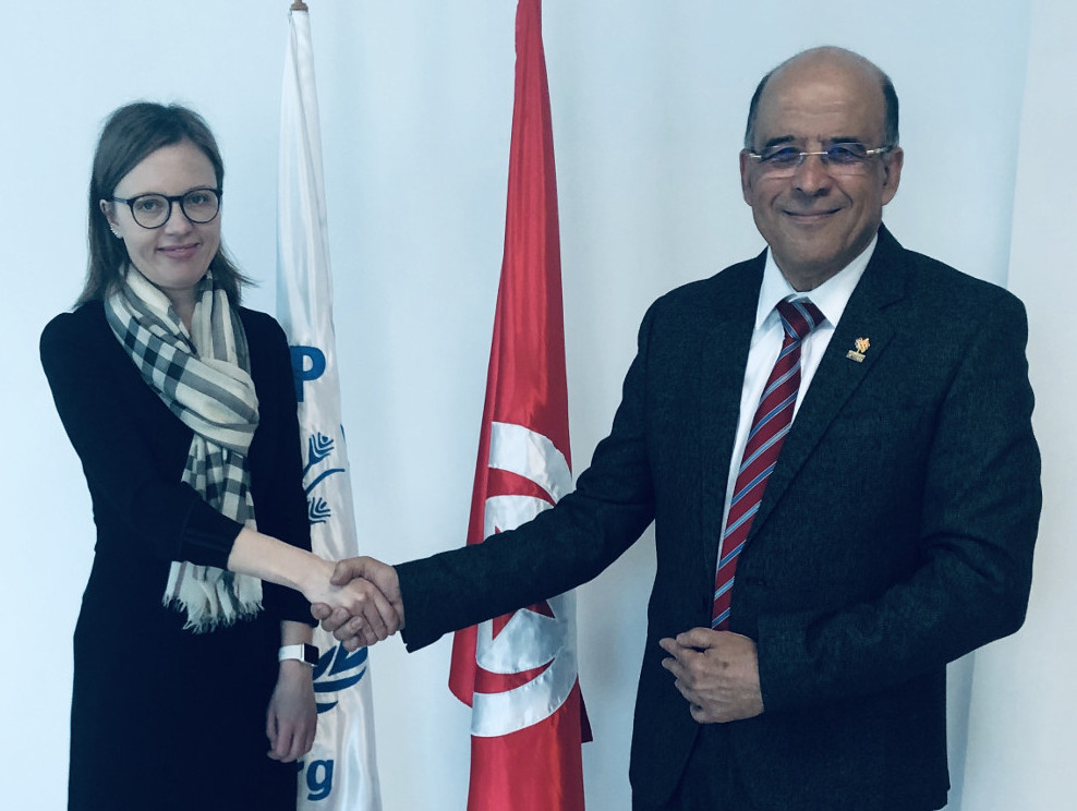 Mrs Maria Lukyanova, World Food Programme Director and Fethi Thabet, Theme leader on Engineering and Sustainable Agriculture in the WFEO Committee on Engineering and the Environment (CEE)