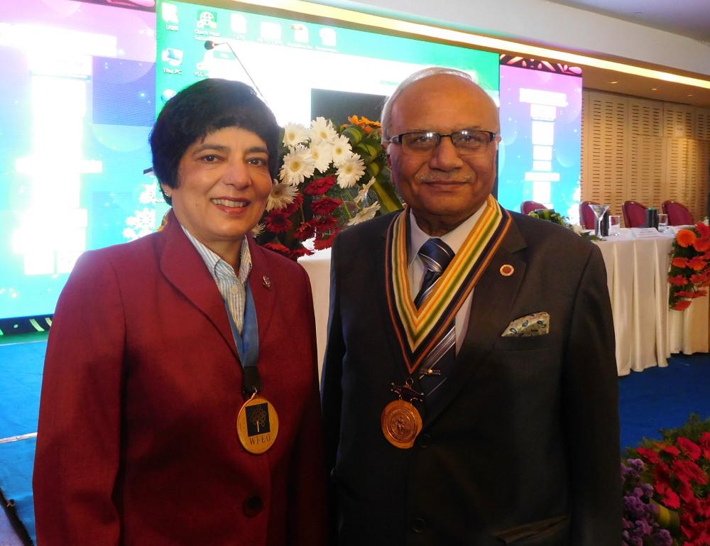 Dr. Marlene Kanga with IEI President Navin Vasoya