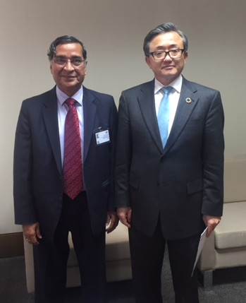 Mr. Pradeep Chaturvedi with Liu Zhenmin, Under-Secretary General, UN DESA