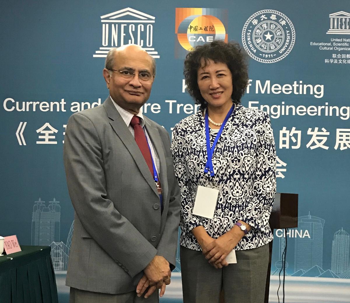 Tariq Durrani, member of the ERII Advisory Board, and Ruomei Li, Member of WFEO Executive Council