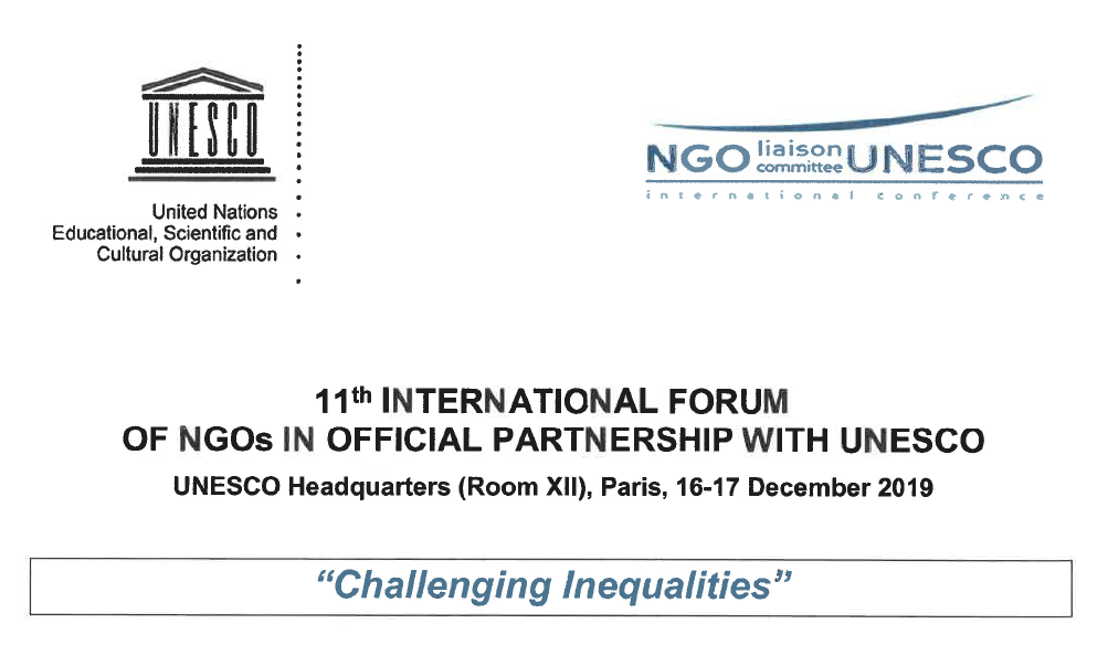 International Forum on NGOs – UNESCO – Challenging inequalities