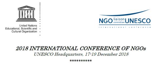 2018 UNESCO International Conference of NGOs