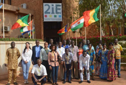 Opening day of the hydrology training course at the 2IE school in Ouagadougou, Burkina Faso, February 2017