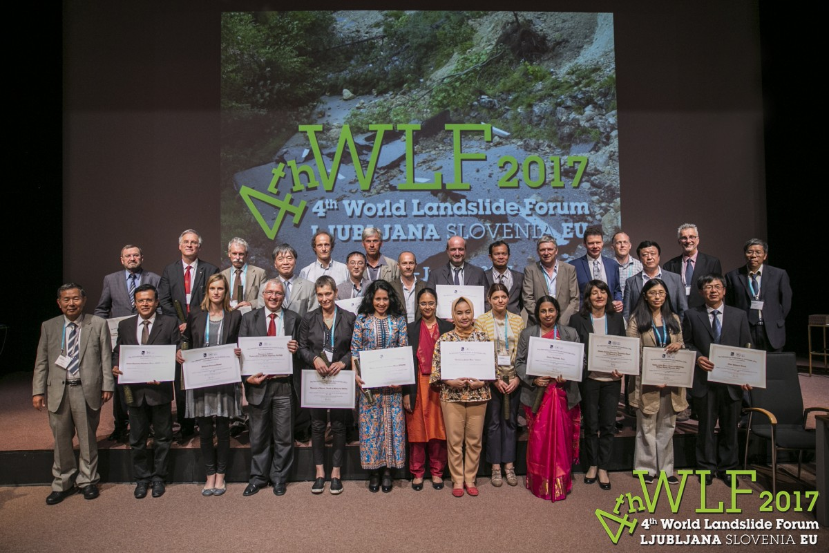 20 organizations were awarded the title of World Centre of Excellence in Landslide Disaster Reduction 2017-2020.