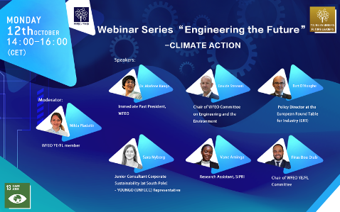 WFEO Committee on Young Engineers / Future Leaders Webinar series 'Engineering the Future' – Climate Action