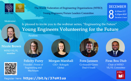 WFEO Committee on Young Engineers / Future Leaders Webinar series 'Engineering the Future' No3 – Volunteering for the Future