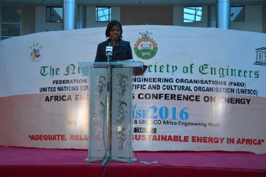 Dr. Enang Moma, representing Director, UNESCO Regional Office Abuja
