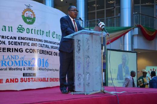Engr. Martin Manuhwa, representing WFEO President, Jorge Spitalnik
