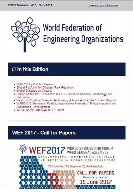 WFEO Flash 13 - May 2017