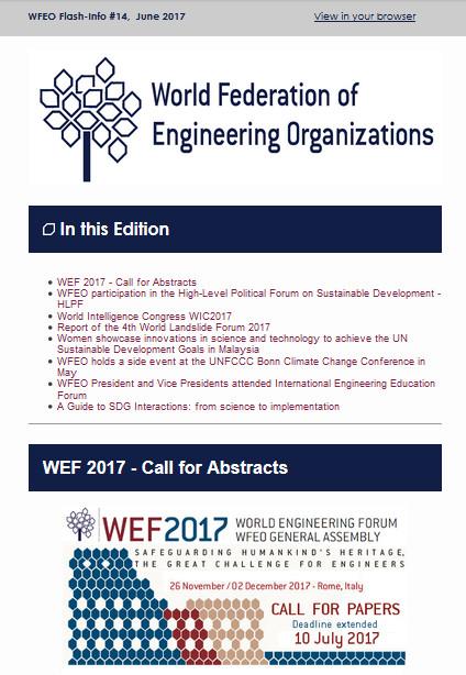 WFEO Flash 14 - June 2017