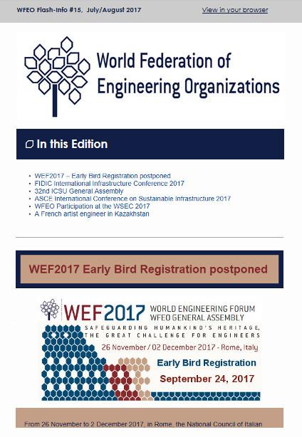 WFEO Flash Info 16 - September 2017