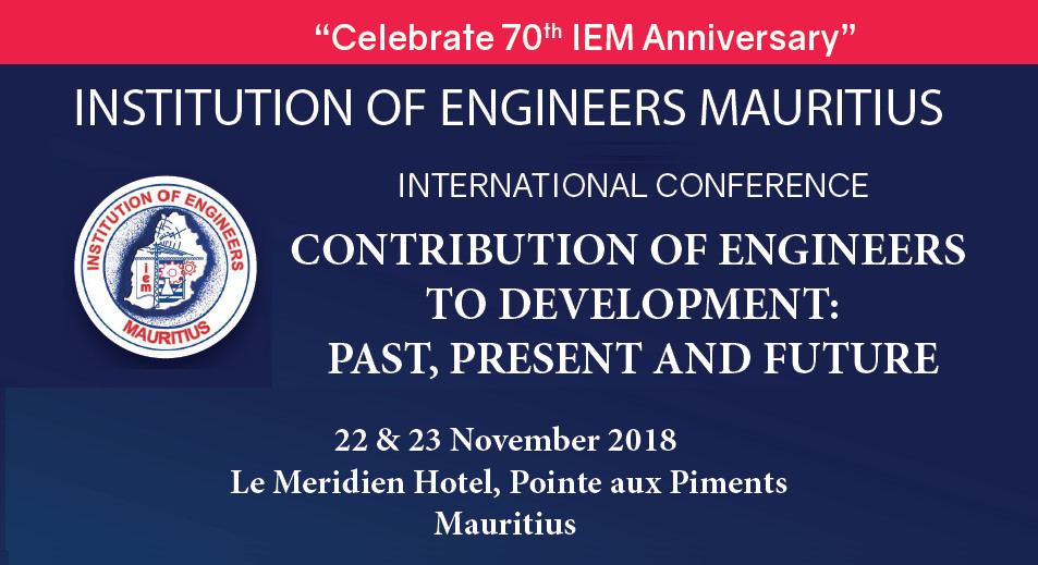 Institution of Engineers Mauritius International Conference – 70th anniversary