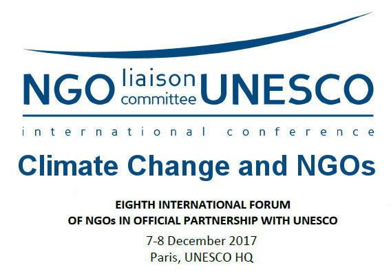Climate Change and NGOs – The International Forum of NGOs in official partnership with UNESCO
