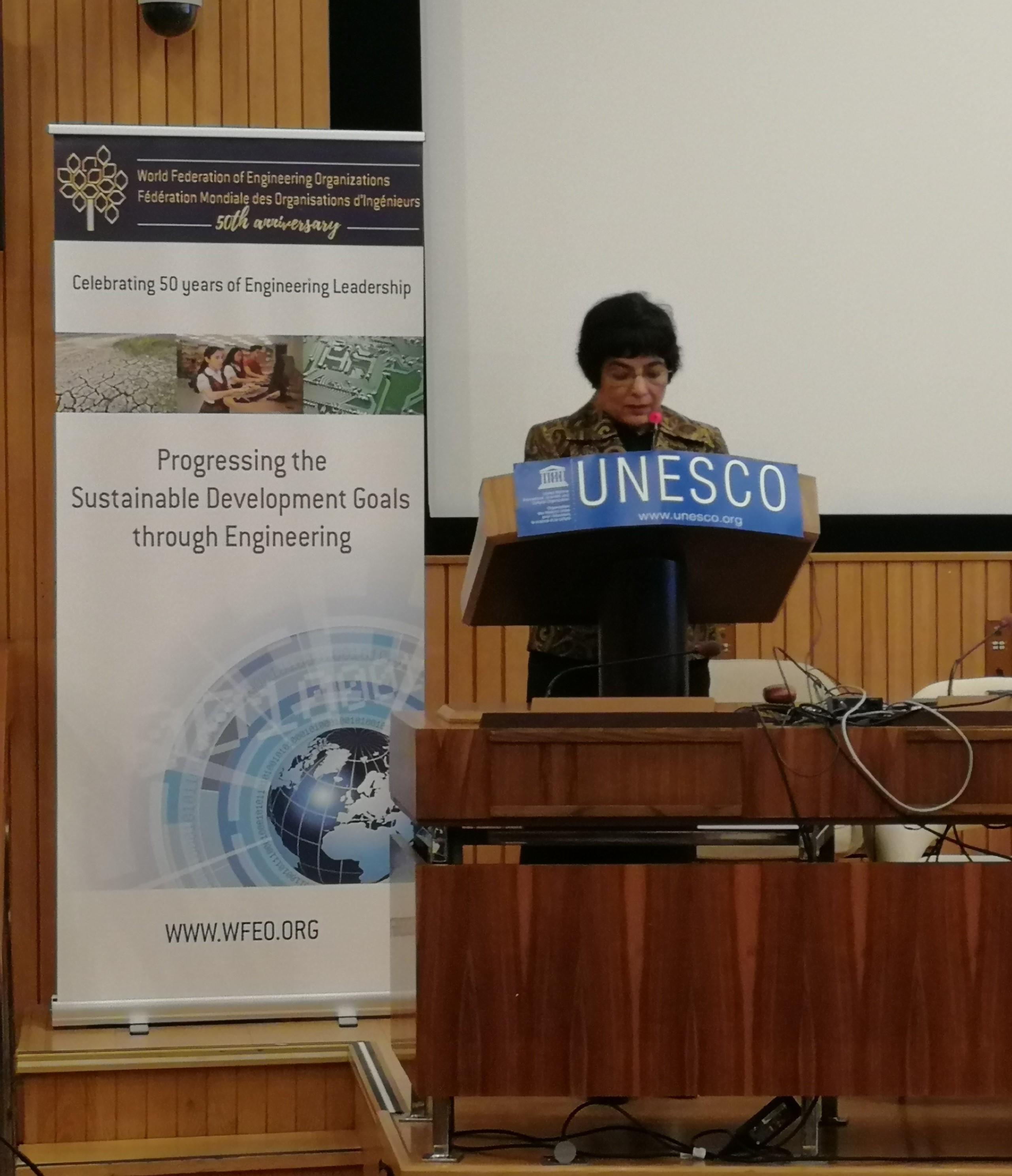 WFEO President Dr. Marlene Kanga