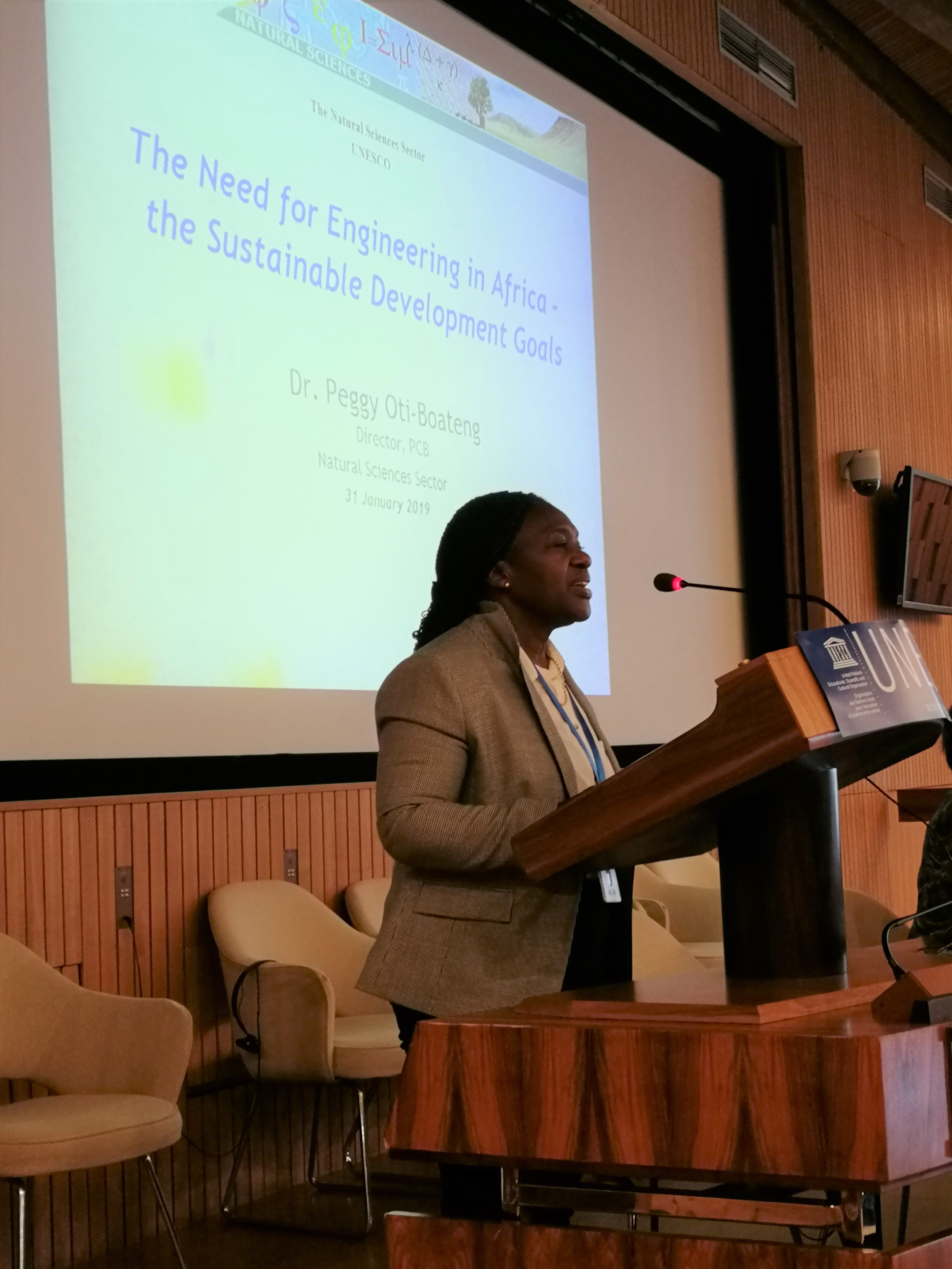 Dr. Peggy Oti-Boateng, UNESCO Director Capacity Building for Sciences