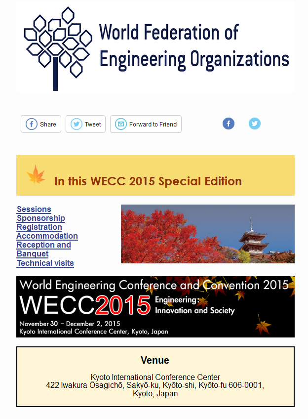 WECC 2015 Flash Info Special Edition