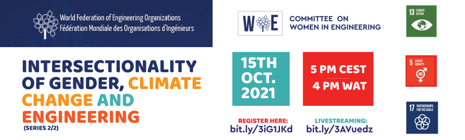 WFEO WIE webinar on Intersectionality of Gender, Climate Change and Engineering - Series 2/2