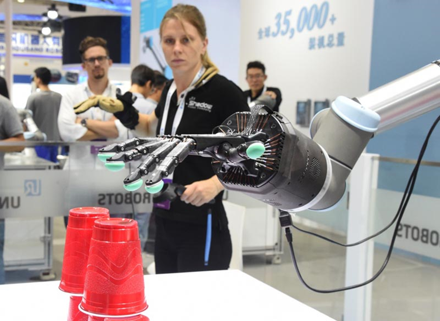 Mechanical Arm exhibited at WRE2019