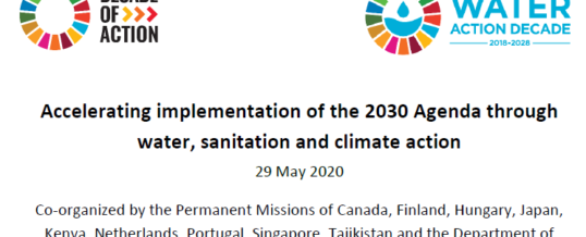 "High-level Event ""Accelerating implementation of the 2030 Agenda through water, sanitation and climate action"""