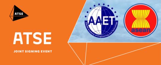Joint signing of the Memorandum of Understanding between ATSE and AAET