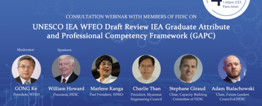 WFEO Consultation Webinar with members of FIDIC on UNESCO IEA WFEO Draft Review IEA GAPC