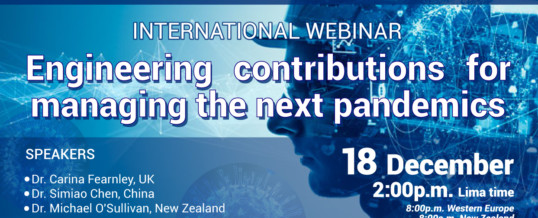 "WFEO CDRM International Webinar ""Engineering contributions for Managing the next pandemics"""