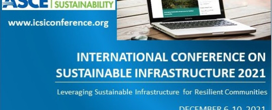 International Conference on Sustainable Infrastructure 2021