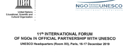 International Forum on NGOs – UNESCO – Challenging inequalities