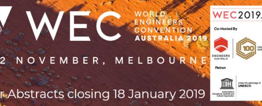 World Engineers Convention 2019 – WEC 2019