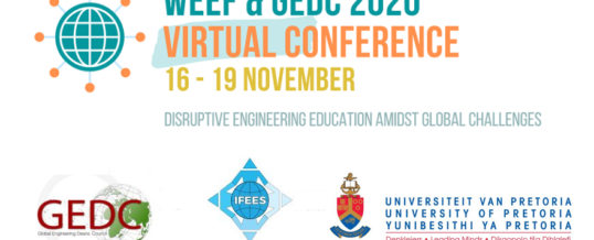 WEEF & GEDC 2020 Conference – Disruptive Engineering Education amidst Global Challenges