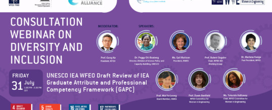 WFEO Webinar on Diversity and Inclusion