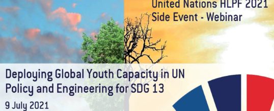 WFEO Webinar: HLPF 2021 – Deploying Global Youth Capacity in UN Policy and Engineering for SDG 13
