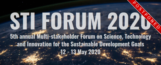 STI Forum 2020 – Multi-stakeholder Forum on Science, Technology and Innovation for the SDGs
