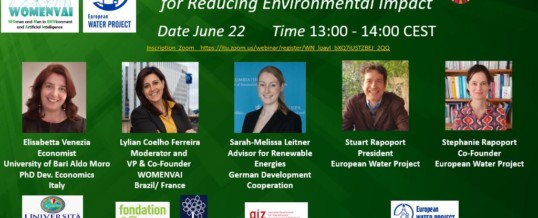 "Webinar: ""Waste and Water data solution to reduce environmental impact"" – WSIS Forum 2020"